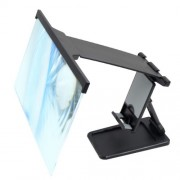 HD Mobile Phone Screen Magnifier Foldable Phone Stand with Projector Screen for Movies Videos Gaming