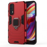 PC + TPU Finger Ring Kickstand Hybrid Phone Case for Oppo Realme 7 - Red
