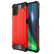 Armor Guard PC + TPU Combo Protective Case for Motorola Moto G9 Plus - Red