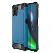 Armor Guard PC + TPU Combo Protective Case for Motorola Moto G9 Plus - Blue