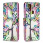 Pattern Printing Magnetic Leather Wallet Case for Samsung Galaxy A21s - Colorized Tree
