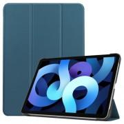 Δερμάτικη Θήκη Βιβλίο Tri-Fold με Βάση Στήριξης για iPad Air (2020) - Πράσινο του Δάσους