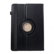 Universal 360 Degree Rotary Stand Litchi Skin Leather Case for 9-10 inch Tablet PCs, Size: 24-26cm x 16-18.5cm - Black