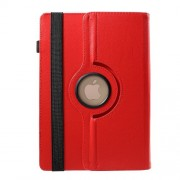 Universal 360 Degree Rotary Stand Litchi Skin Leather Cover for 9-10 inch Tablet PCs, Size: 24-26.cm x 16-18.5cm - Red