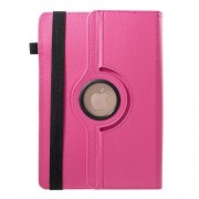 Universal 360 Degree Rotary Stand Litchi Skin Leather Cover for 9-10 inch Tablet PCs, Size: 24-26cm x 16-18.5cm - Rose