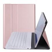 A0T5 Δερμάτινη Θήκη Βιβλίο με Ασύρματο Πληκτρολόγιο για Huawei MediaPad T5 10.1 / Honor Pad 5 10.1 - Ροζέ Χρυσαφί