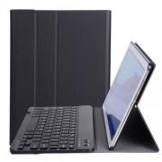A0T5 Δερμάτινη Θήκη Βιβλίο με Ασύρματο Πληκτρολόγιο για Huawei MediaPad T5 10.1 / Honor Pad 5 10.1 - Μαύρο