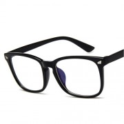 Retro Anti Blue Ray Computer Glasses Blue Light Coated Gaming Glasses - Matte Black