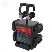 JYS-NS199 Game Accessories Game Disk Storage Rack Controller Organizer with Headphone Stand
