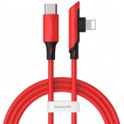 Baseus Colourful Elbow Type-C to iP Cable PD 18W 1.2m - Red