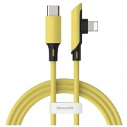 Baseus Colourful Elbow Type-C to iP Cable PD 18W 1.2m - Yellow