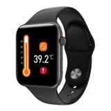 LEMONDA Air Pro Ρολόι Smart Watch Temperature Heart Rate Monitoring Android IOS IP67 - Μαύρο