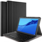 IVSO Detachable Bluetooth Keyboard Leather Stand Flip Case for Huawei MediaPad T5 10 - Black