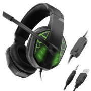 C971 Gaming Earphone Headphone Wired Headset with Mic for PC Cell Phone Laptop - Green