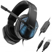 C971 Gaming Earphone Headphone Wired Headset with Mic for PC Cell Phone Laptop - Blue