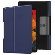 Leather Cover for Lenovo Yoga Smart Tab 10.1/Tab 5 YT-X705 with Stand Tablet Case - Dark Blue
