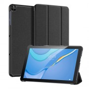 DUX DUCIS Tri-fold Stand PU Leather Tablet Case for Huawei MatePad T10/T10s - Black