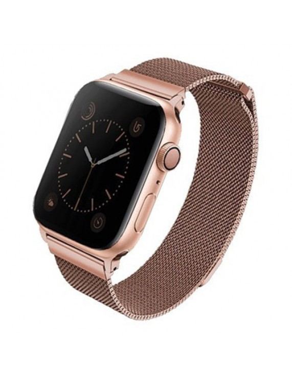 Uniq Dante Apple Watch Series 5 4 44mm Stainless Steel Rose Gold