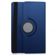 Litchi Grain Leather Protection Case with 360 Degree Swivel Stand for Huawei MediaPad M6 10,8-inch - Dark Blue