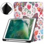 Pattern Printing Leather Tri-fold Stand Smart Tablet Protection Case for iPad 9,7 (2018) / 9,7 (2017) / Air 2 / Air - Colorful B