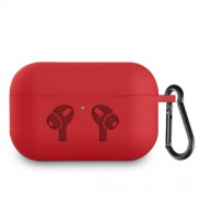 Pure Color Silicone Earphone Cover for AirPods Pro/AirPods 3 - Red