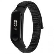Nylon Velcro Υφασμάτινο Μπρασελέ για Xiaomi Mi Band 4 / Band 3 - Μαύρο
