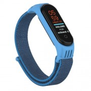 Nylon Velcro Υφασμάτινο Μπρασελέ για Xiaomi Mi Band 5 - Μπλε
