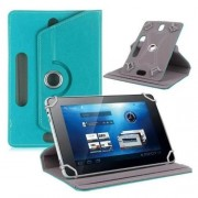 Universal 360-degree Rotary Stand Leather Folio Case for Samsung Tab 3 7.0 P3200/LG G Pad 7.0 - Baby Blue