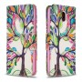 Pattern Printing Leather Flip Shell with Stand Wallet for Nokia 1.3 - Colorized Tree