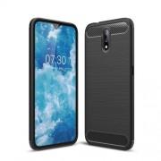 Carbon Fiber Brushed TPU Phone Casing for Nokia 2.3 - Black