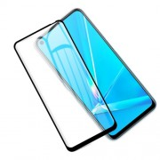 MOCOLO Silk Printing Anti-explosion Tempered Glass Full Size Screen Film [Full Glue] for Oppo A52/A92/A72 (2020) - Black