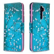 Printing Skin Shell Leather Phone Cover for Oppo A5 (2020)/A9 (2020)/A11x - Flower