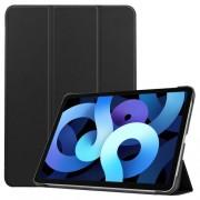 Δερμάτικη Θήκη Βιβλίο Tri-Fold με Βάση Στήριξης για iPad Air (2020) - Μαύρο