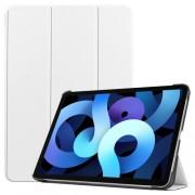 Δερμάτικη Θήκη Βιβλίο Tri-Fold με Βάση Στήριξης για iPad Air (2020) - Λευκό