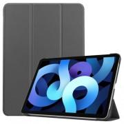 Δερμάτικη Θήκη Βιβλίο Tri-Fold με Βάση Στήριξης για iPad Air (2020) - Γκρι