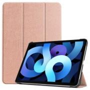 Δερμάτικη Θήκη Βιβλίο Tri-Fold με Βάση Στήριξης για iPad Air (2020) - Ροζέ Χρυσαφί