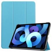 Δερμάτικη Θήκη Βιβλίο Tri-Fold με Βάση Στήριξης για iPad Air (2020) - Γαλάζιο
