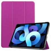 Δερμάτικη Θήκη Βιβλίο Tri-Fold με Βάση Στήριξης για iPad Air (2020) - Μωβ