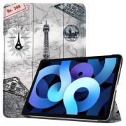 Δερμάτικη Θήκη Βιβλίο Tri-Fold με Βάση Στήριξης για iPad Air (2020) - Πύργος του Άιφελ
