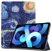 Δερμάτικη Θήκη Βιβλίο Tri-Fold με Βάση Στήριξης για iPad Air (2020) - Έναστρη Νύχτα