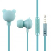 Creative Cartoon Universal 3.5mm In-Ear Wired Earphones with Mic MW-102 - Blue