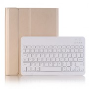 2 in 1 Bluetooth Keyboard with Stand Leather Tablet Casing for iPad 10.2 (2019) (A102B) - Gold