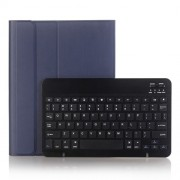 2 in 1 Bluetooth Keyboard with Stand Leather Tablet Casing for iPad 10.2 (2019) (A102B) - Dark Blue
