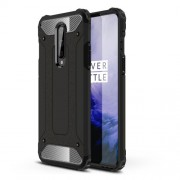 Armor Guard Hybrid Plastic + TPU Phone Cover for OnePlus 8 - Black