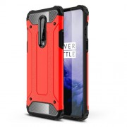 Armor Guard Hybrid Plastic + TPU Phone Cover for OnePlus 8 - Red