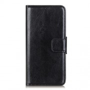 Crazy Horse Wallet Leather Stand Case for Alcatel 1SE (2020) - Black