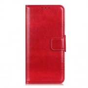 Crazy Horse Wallet Leather Stand Case for Alcatel 1SE (2020) - Red