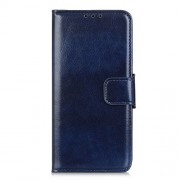 Crazy Horse Wallet Leather Stand Case for Alcatel 1SE (2020) - Blue