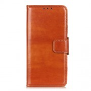 Crazy Horse Wallet Leather Stand Case for Alcatel 1SE (2020) - Brown