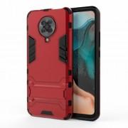 Υβριδική Θήκη Σιλικόνης TPU και Πλαστικού με Μεταλλικό Δαχτυλίδι που κάνει Βάση Στήριξης για Xiaomi Poco F2 Pro / Redmi K30 Pro - Κόκκινο